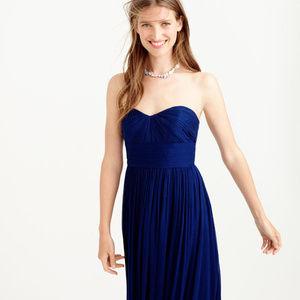 J CREW dress XS 2 Marbella Strapless Silk Chiffon